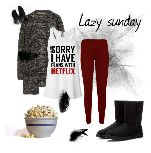 Lazy sunday by marieck-1 on Polyvore featuring polyvore, fashion, style, Enza Costa, WearAll, UGG Australia and Waring