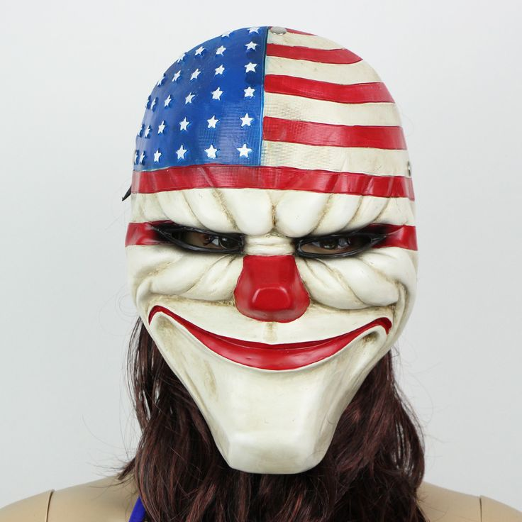 Masks 27 pinterest military american flag halloween american flag clown voltagebd Image collections