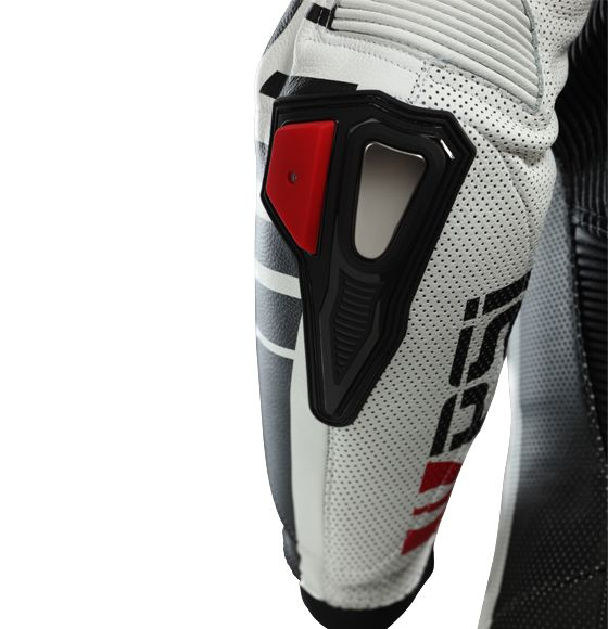 Racing detail: elbow slider and protector on Leather overalls RACING ASTAROTH | PSí Hubík