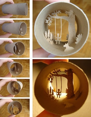 ok maybe if you just pasted paper cut outs in a larger cylinder, it would be doable...
