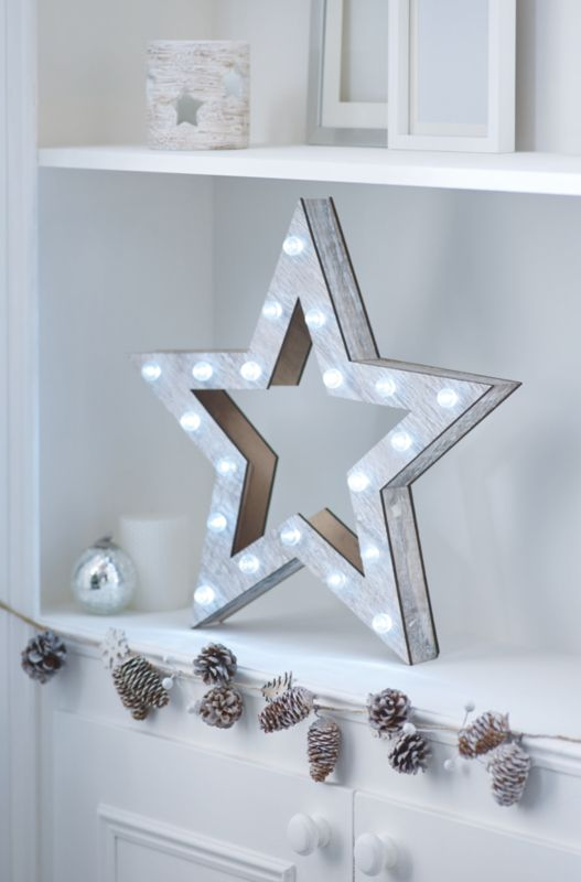 Find This Pin And More On Christmas Decor Large Wooden Star Light