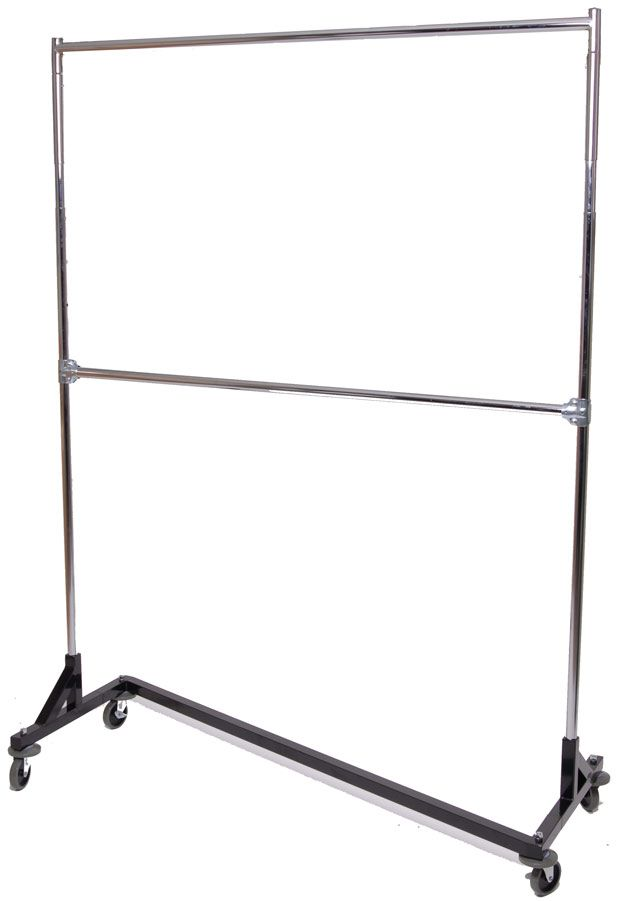 Collapsible Rolling Clothes Racks - Portable Racks Fold Down to 5 Inches - Garment Racks Etc