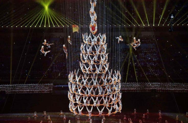 Vive, que no es poco.: Espectacular Ceremonia de apertura de los Juegos O...