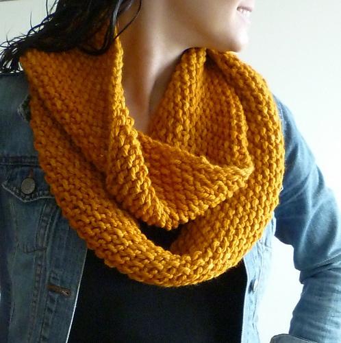 Gap Infinity Scarf Knitting Pattern : GAP-tastic Cowl by Jen Geigley malabrigo Chunky, Sunset ...
