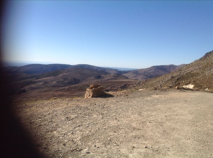Summit of the Swartberg pass 1565 m  rather windy but stunning