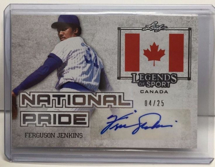Ferguson Fergie Jenkins 2015 Leaf Legends of Sport SILVER National Pride Auto/25 #ChicagoCubs