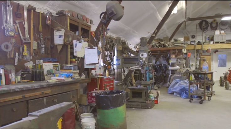 Video: full-scale commercial organic farm general shop for tractors, implements, etc.