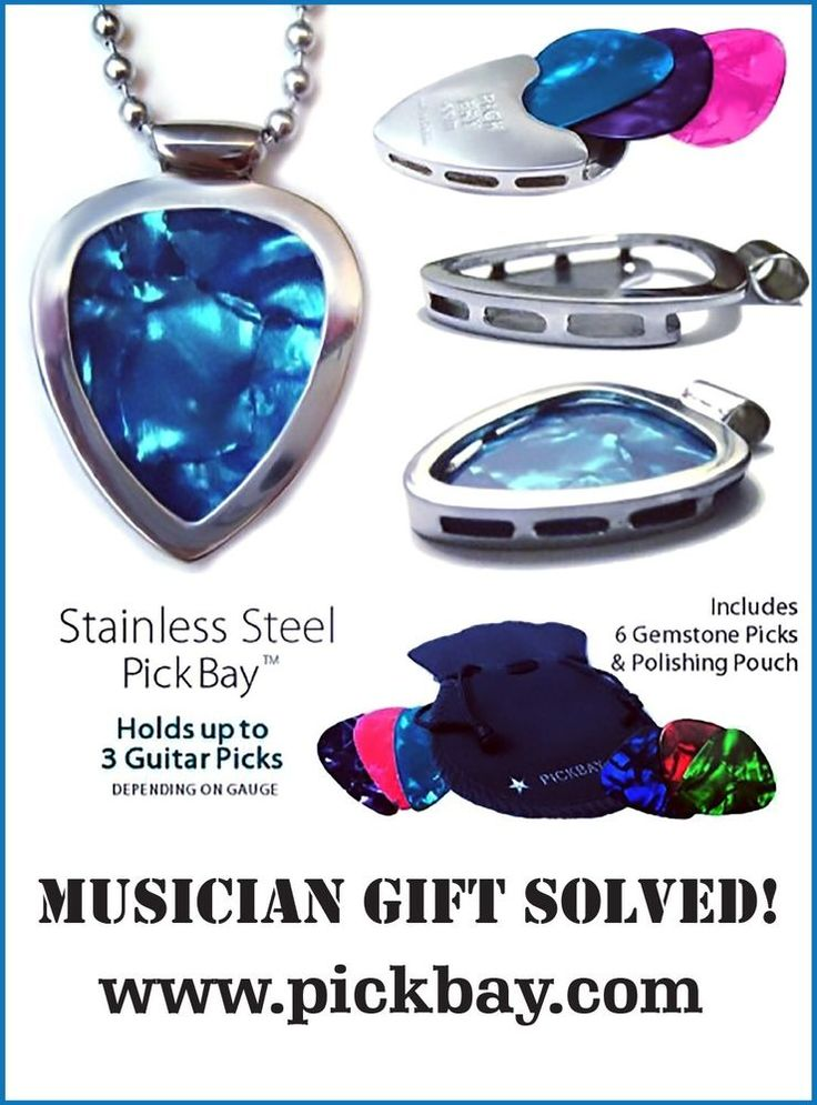 1,000 necklaces in 1 PICKBAY Guitar PICK Holder Pendant Set #Best Gift   eBay