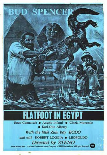 FLATFOOT-IN-EGYPT-original-1979-one-sheet-movie-poster-BUD-SPENCER-ROBERT-LOGGIA