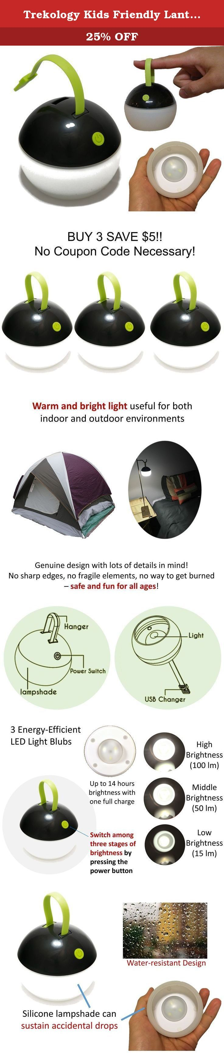 Trekology Kids Friendly Lantern - Durable, Drop-proof, Ultralight, Water-resist for Kids at all Ages - Long lasting Light and USB Rechargeable Tent Light, Camping Lantern, Night light. Inspired by the popular animation, this pokemon-ball style LED lantern is fun for all occasions! Whether you want to put it on your patio table for romantic lighting, or hang it in your camping tent for some evening entertainment - this lantern is perfect for you! This hand lamp features a soft plastic…
