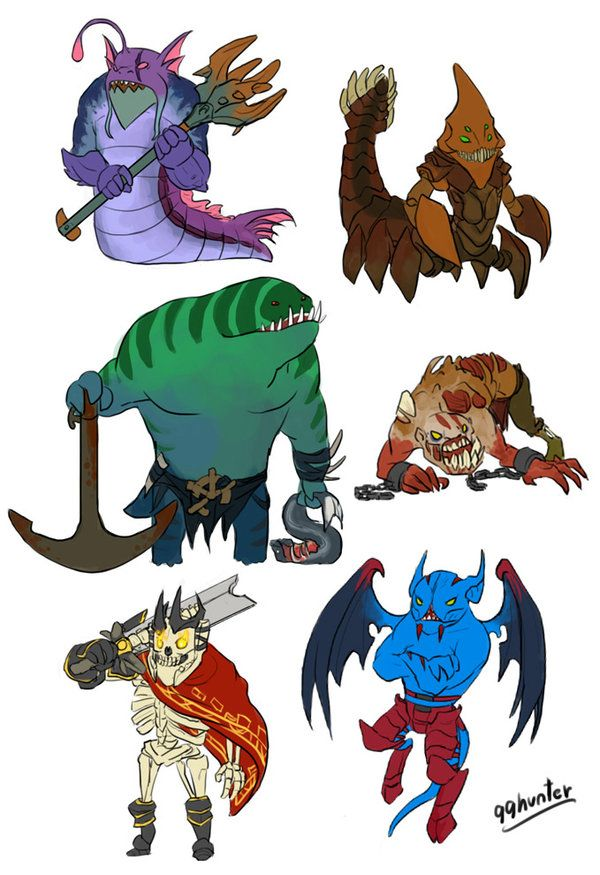 Dota 2 - Mini Dire STR heroes part 1 by spidercandy on deviantART