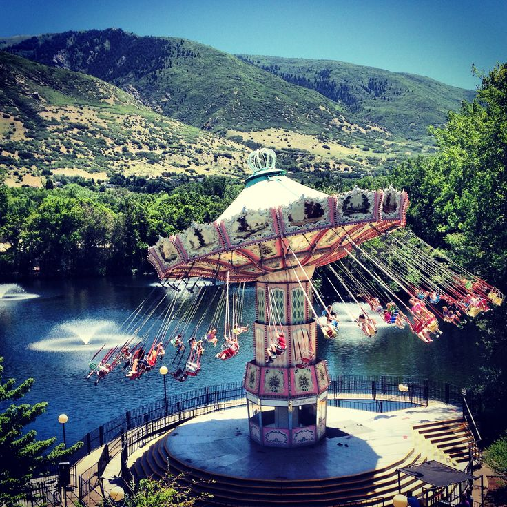 Lagoon Amusement park in Farmington, Utah.
