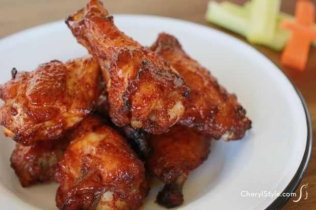BBQ baked chicken wings with our special rub  sauce