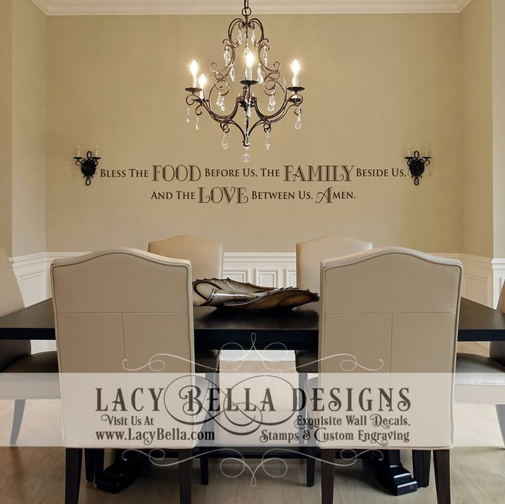 82 dining room vinyl wall decals chandelier dining for Best dining room quotes