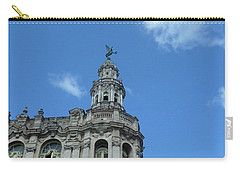 Carry-all Pouch featuring the photograph Cuba Architect And Skies by Francesca Mackenney