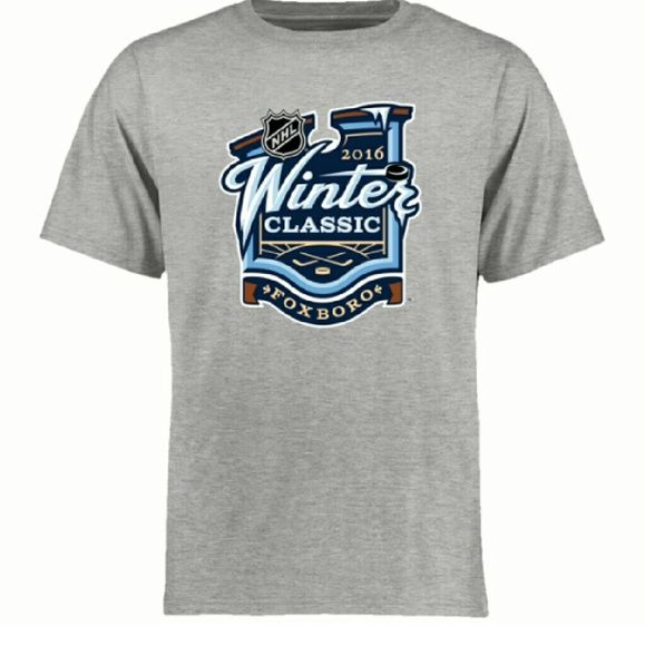 NHL Heather Gray 2016 Winter Classic T-Shirt Gear up for the 2016 Winter Classic with this awesome NHL tee! Crisp graphics showcase your favorite game of the season--Material: 100% Cotton Crew neck Short sleeve Officially licensed {Accepting offers AND I have this shirt in small!) Reebok Tops Tees - Short Sleeve
