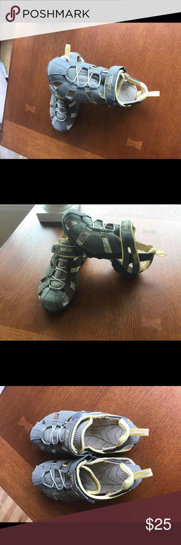 Teva water/hiking shoe Teva water shoe in good condition only worn a few times very clean except for one spot on the heel that is listed in the picture Teva Shoes