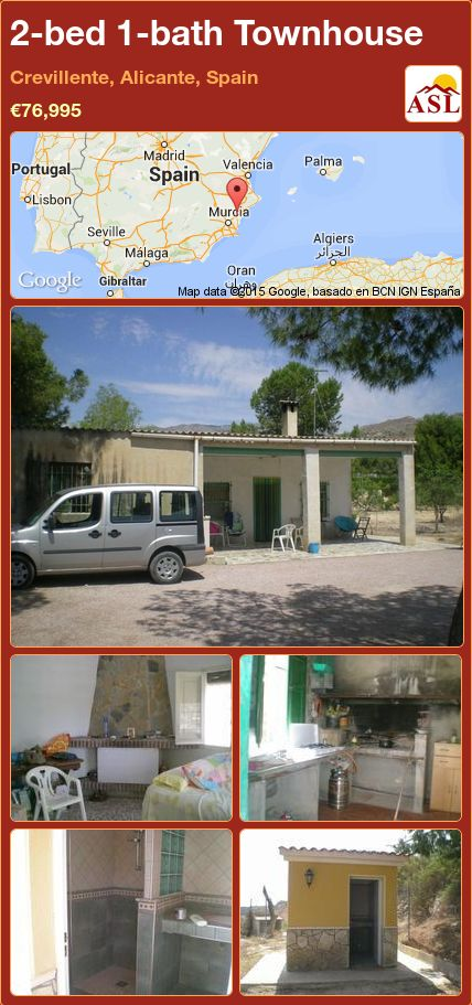 2-bed 1-bath Townhouse in Crevillente, Alicante, Spain ►€76,995 #PropertyForSaleInSpain