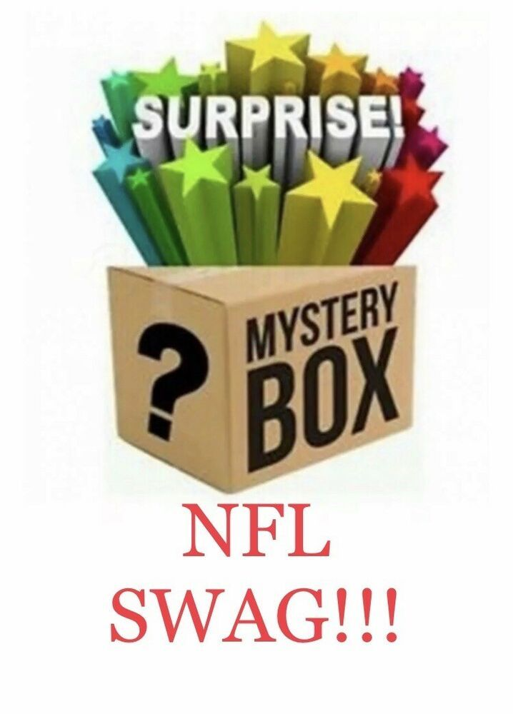 Mysteries Box Of Random Nfl Apparel Swag Gadgets And More 300 Value Mystery Ebay Nfl Outfits Mystery Box Nfl