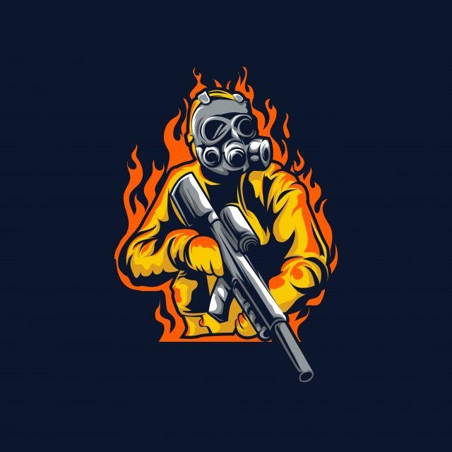Logotipo Do Jogo Mascote Esport Com Ilustracao De Sniper Logo Design Art Team Logo Design Game Logo