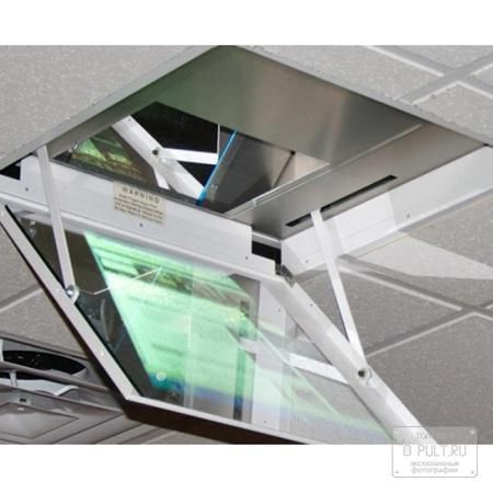 Draper Revelation A  — 295653 руб. —  Лифт постоянно скрывает проектор в потолке и ликвидирует шум от его работы          Лифт Revelation разительно отличается от традиционных лифтов для проекторов. Традиционные лифты опускают проектор из потолочной ниши или поднимают его из  стола. Лифт Revelation производства фирмы Draper постоянно скрывает проектор в потолке и ликвидирует шум от его работы. Вы не увидите проектора и не будете слышать шума от его работы ни до, ни во время, ни после его…