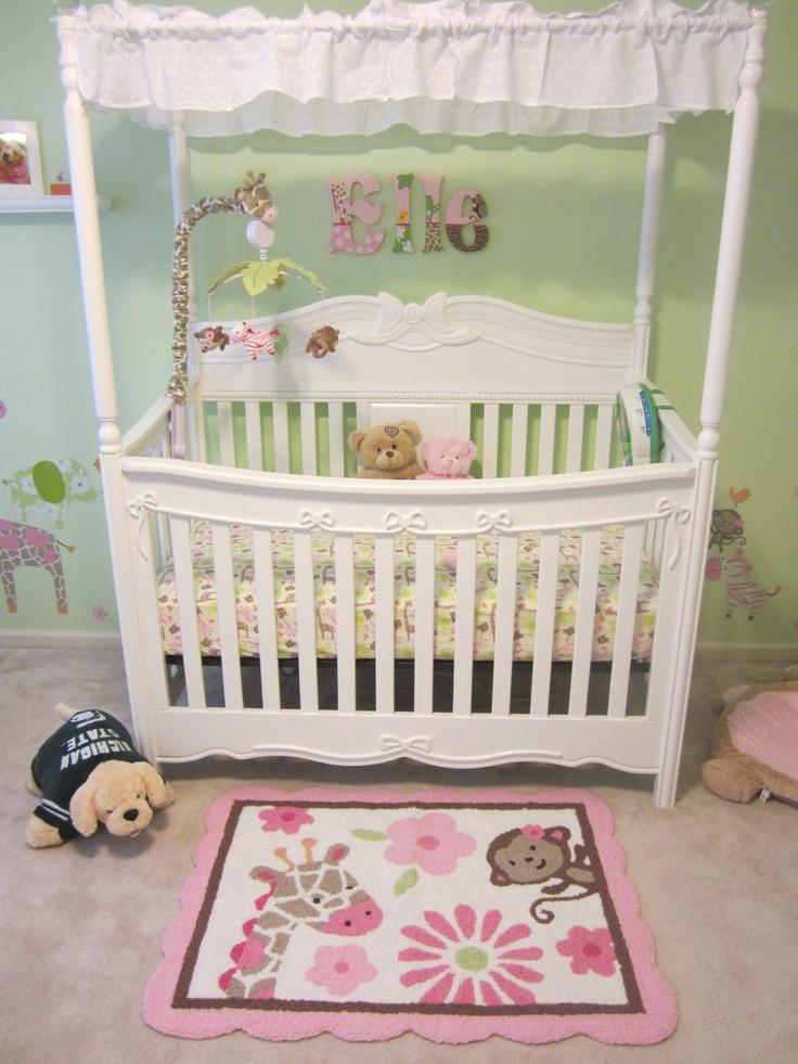Jungle themed crib mobile leap frog baby bedding and crib for Princess crib mobile