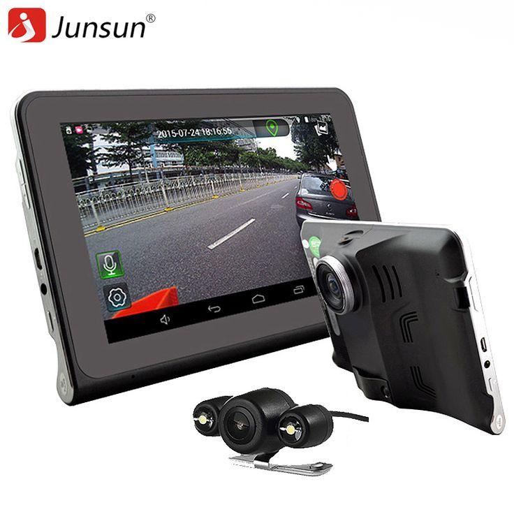 """Junsun 7 """"capacitive mobil dvr kamera perekam video android 4.4 gps navigasi WIFI FM Truk gps sat nav 16 GB Peta Gratis Update"""