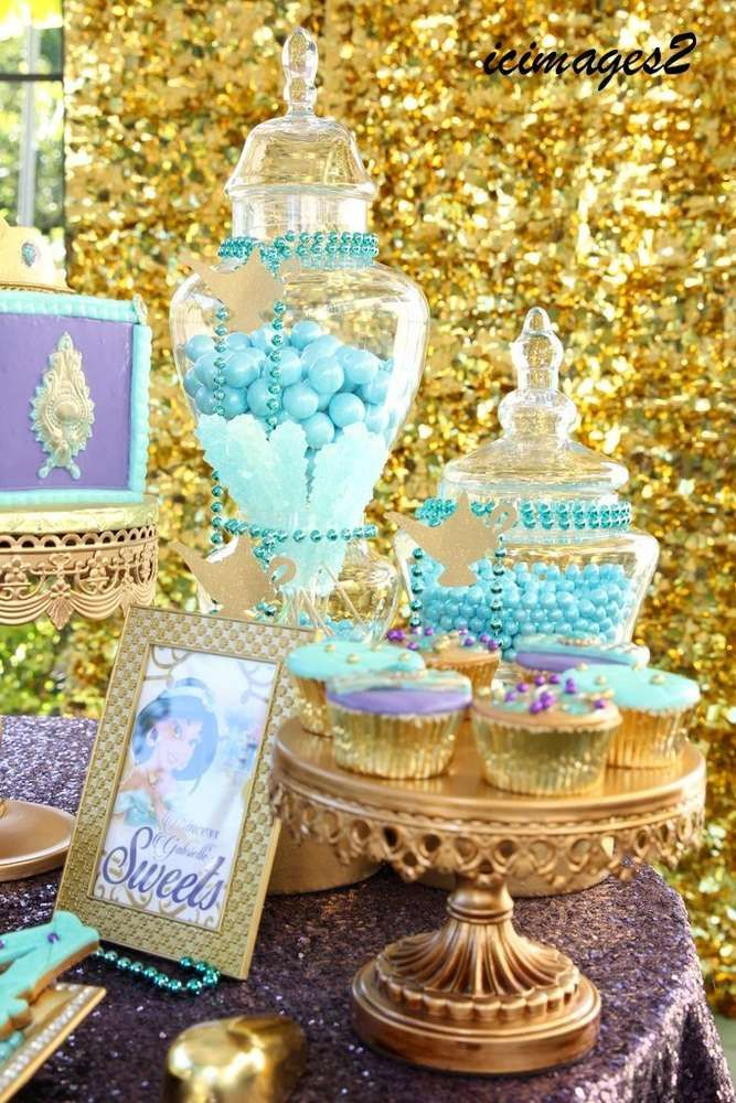 Gorgeous treats at a Princess Jasmine birthday party! See more party planning ideas at CatchMyParty.com!