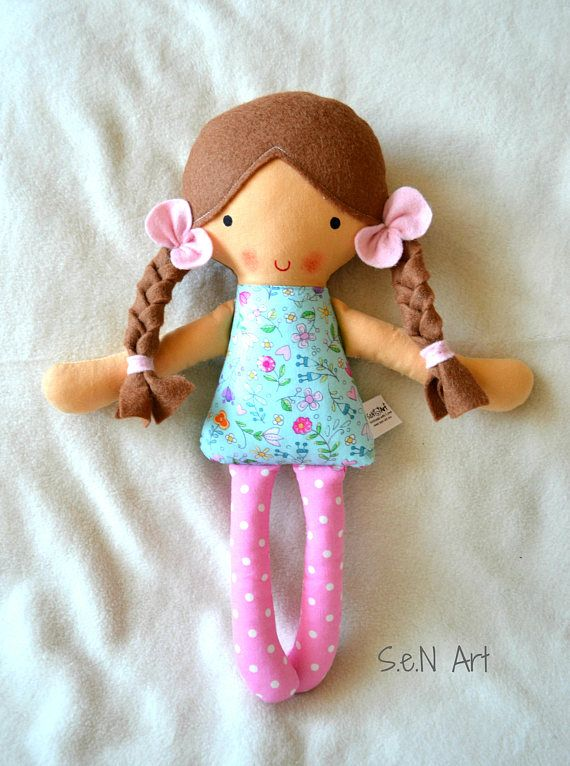 Handmade Fabric Doll  Rag Doll  Hand made Cloth Doll  First