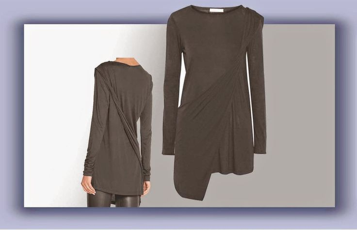 Easy blouse with double layer in knitted fabric