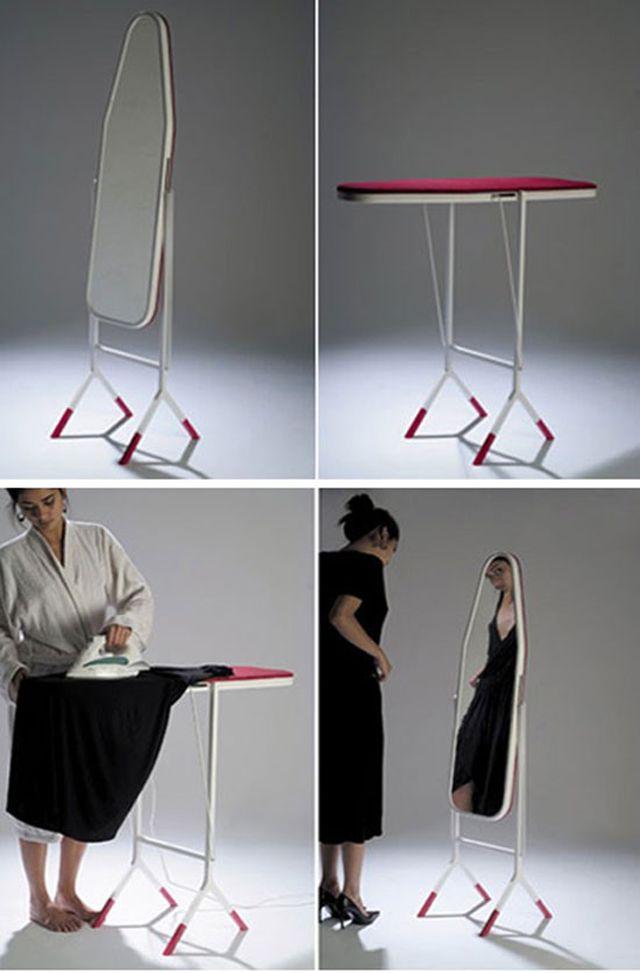 mirror / ironing board