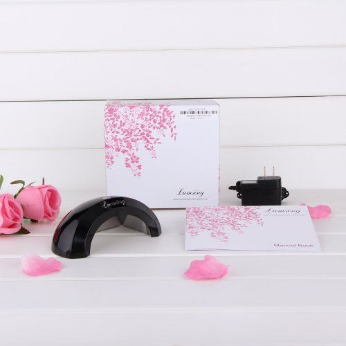 PROMOTION Lumsing USLS-0601 2012 Newest 6W Super Mini Compact LED Nail Dryer/Lamp/Light For Curing Gelish & LED Gels, SPA Equipment, - You Can Take It Wherever You Go! (Black) by Lumsing. $42.99. 2012 Brand New Super Mini 6W LED Nail Gel Cure Lamp with CE certification. Does not produce heat, no harm to the hands and getting dark. Normal LED Lamp's life is 35,000-45,000 hours (that is 5 years+ of non stop working). Upgraded with a Timer (45 & 60 seconds). Light use of high...