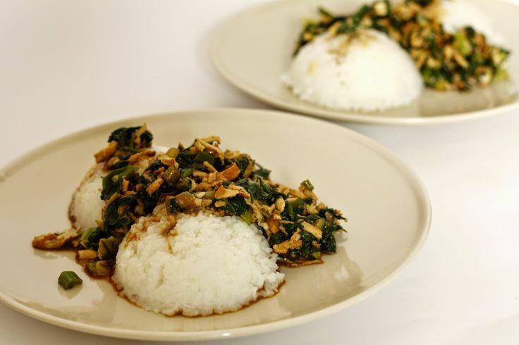 Vegan Food Porn: Rýže s baby špenátem