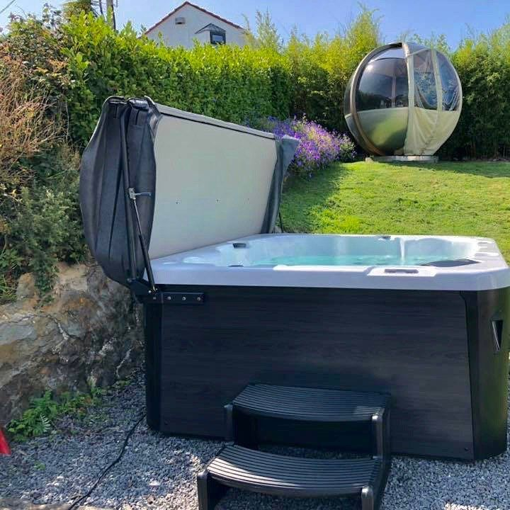 H2o Hot Tubs On Instagram Another Stunning Install Of Our Retreat Hot Tub Easily The Most Popular Model This Year Hot Tub Customer Photos Outdoor Decor
