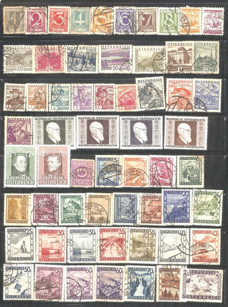 Collections Stamps from Austria