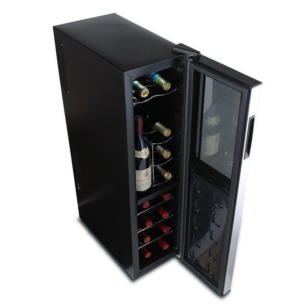 Silent 18 Bottle Dual Zone Wine Cooler Slimline with Upright Bottle Storage