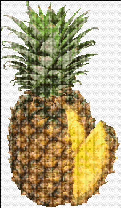Cross Stitch | Ananas xstitch Chart | Design