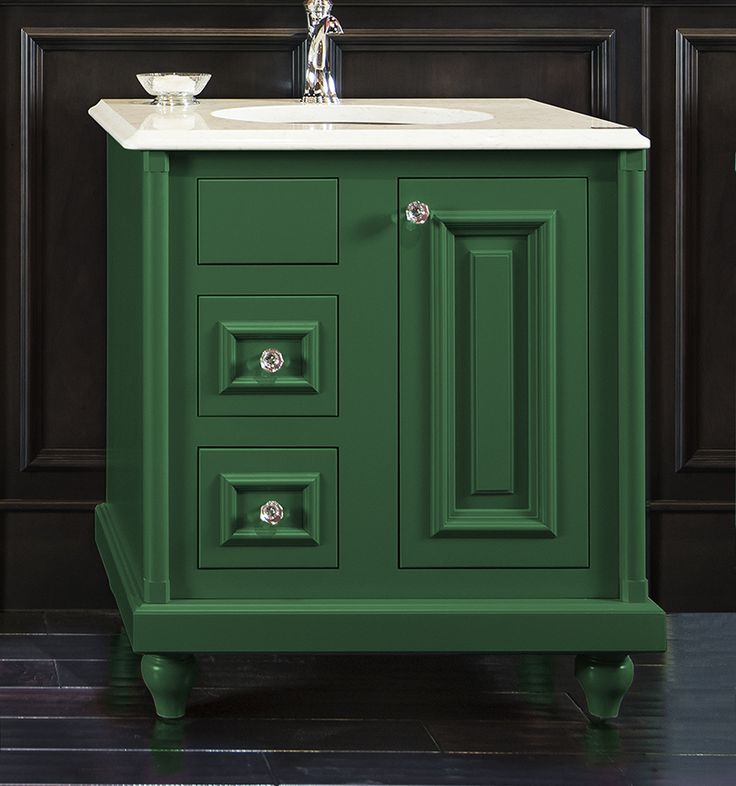 Colorinspire By Wellborn Cabinet In Emerald Green Bathroom