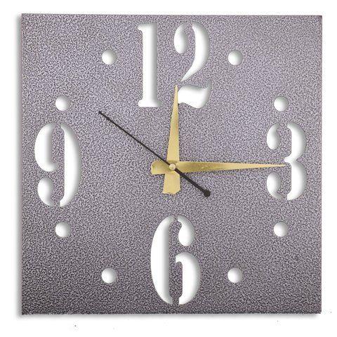 Laser Venue Antique Silver Finish Square Shaped Designer Wall Clock Laser  Venue Http://