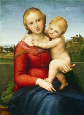 Raphael - The Small Cowper Madonna (c. 1505); National Gallery of Art, Washington, D.C.