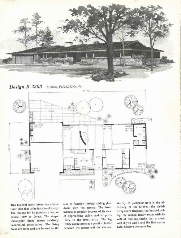 1950 S House Plans Cost To Build Mid Century Modern Home