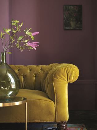 We love this colour combination this is Fired Earth paint in Tyrian Rose