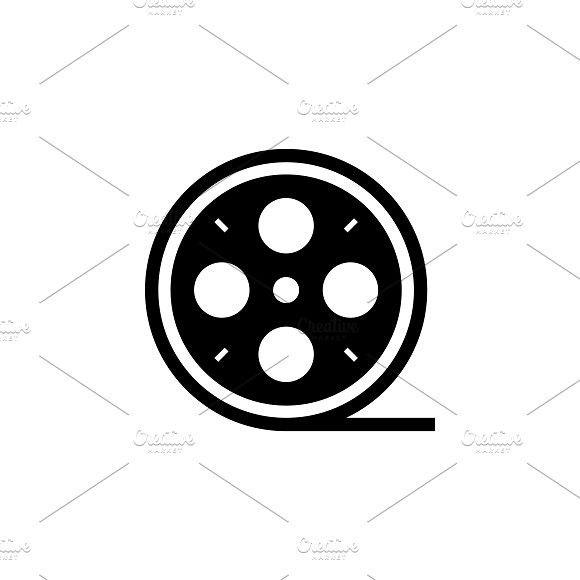 Film Reel Icon Vector Illustration Vector Illustration Icon Illustration