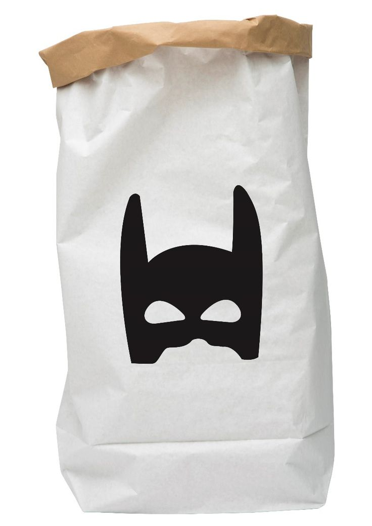 Paper Bag Superhero Black