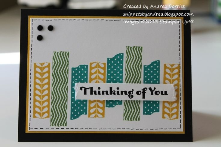 Tape It thinking of you by andib_75 - Cards and Paper Crafts at Splitcoaststampers