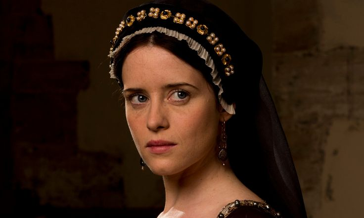 """""""Wolf Hall"""", TV series, 2015. Claire Foy as Anne Boleyn."""