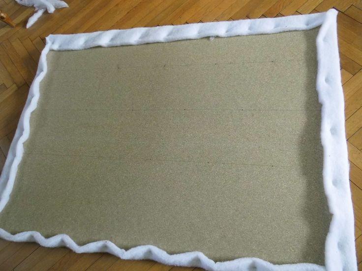 fabriquer tete lit tissu/ mettre couette fine pr molleton