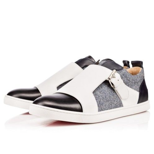 Men Shoes - Discretos Flat Shiny Calf/jeans Tweed - Christian ...