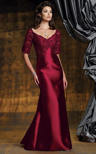 mother of the bride gown with sleeves