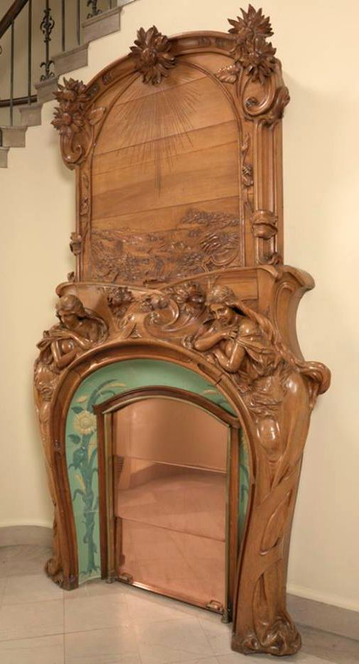 Art Nouveau - Cheminée - Emile Muller, Charles Gréber et Hugnet Frères
